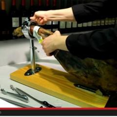 Cómo cortar una paletilla VIDEO 1: La colocamos en el jamonero