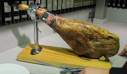 Cómo cortar jamón ibérico VIDEO 1: El corte